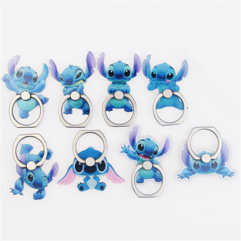 Cartoon Character Car Mobile Phone Stand Holder Finger Ring Smartphone Cute Animal Holder Stand For Iphone 11 Huawei All Phone