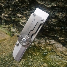 Outdoor titanium alloy mini EDC tool, high frequency whistle survival tool, whistle + blade two-in-one structure. цена и фото