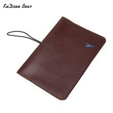 KUDIAN BEAR Passport Cover Waterproof Passport Holder Designer Travel Passport Wallets for Documents Card Holder –BIH035 PM49