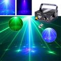 New Mini 3 Len IR Remote 18 Pattern Mini GB Laser Projector Lights 3W Blue LED Mixing Effect DJ Party Stage Lighting AZ18GB