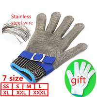 Safety Cut Proof Stab Resistant Stainless Steel Metal Mesh Butcher Glove High Performance Level 5 Protection