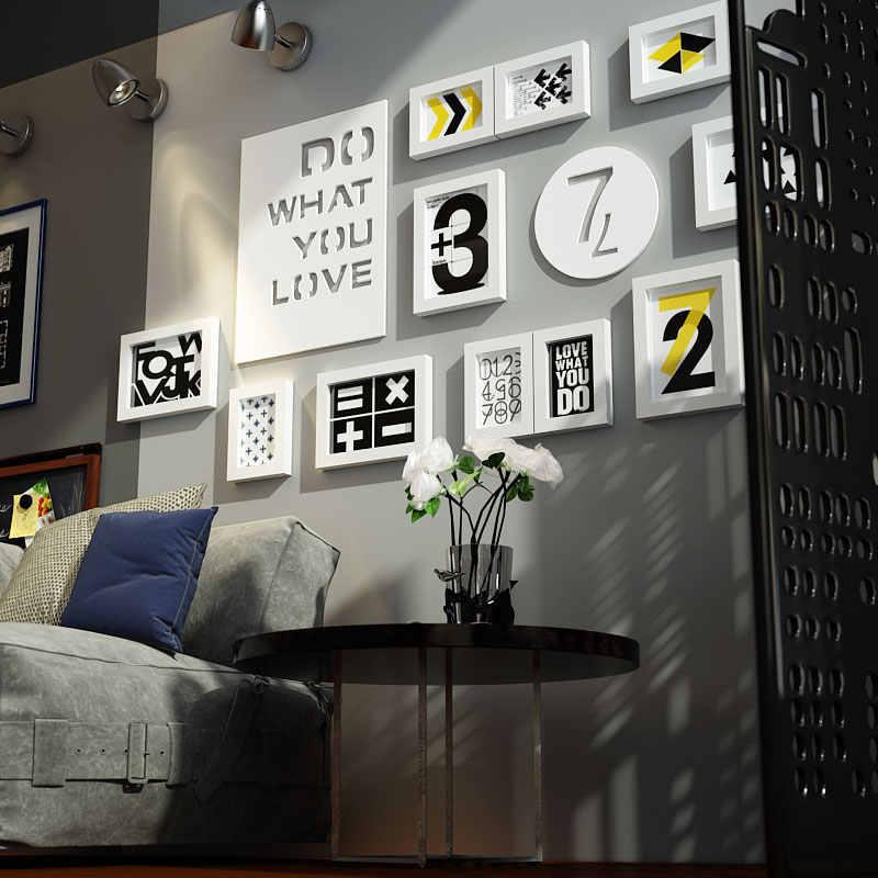 INKANEAR الإبداعية أزياء جميلة اللوحة بحري نمط إطار صور مجموعة خشب متين المنزل ديكور الجدار الديكور DIY HF2973