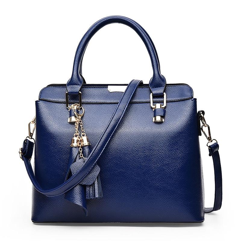 2018 Casual Women Handbags High Quality PU Leather Shoulder Bag For Women Fashion Tassel Top-Handle Bags Female Bolsas Feminina