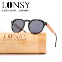 LONSY Acetate Wood Sunglasses Men Women Fashion Polarized Driving Sunglasses Oculos De Sol LS6002