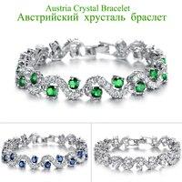 Charming Dark Blue Crystal Women Tennis Bracelets with Cubic Zirconia Stone Top Quality Jewelry