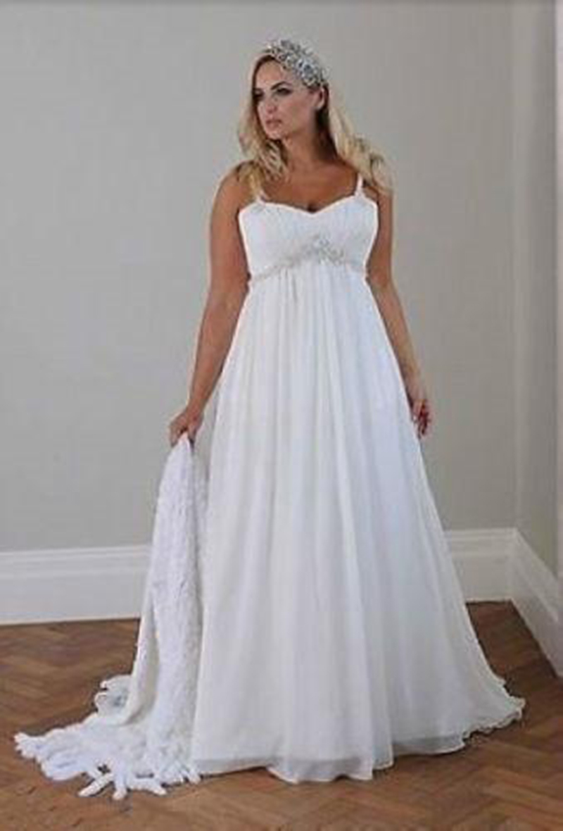 Casual Beach Wedding Dresses for Plus Size