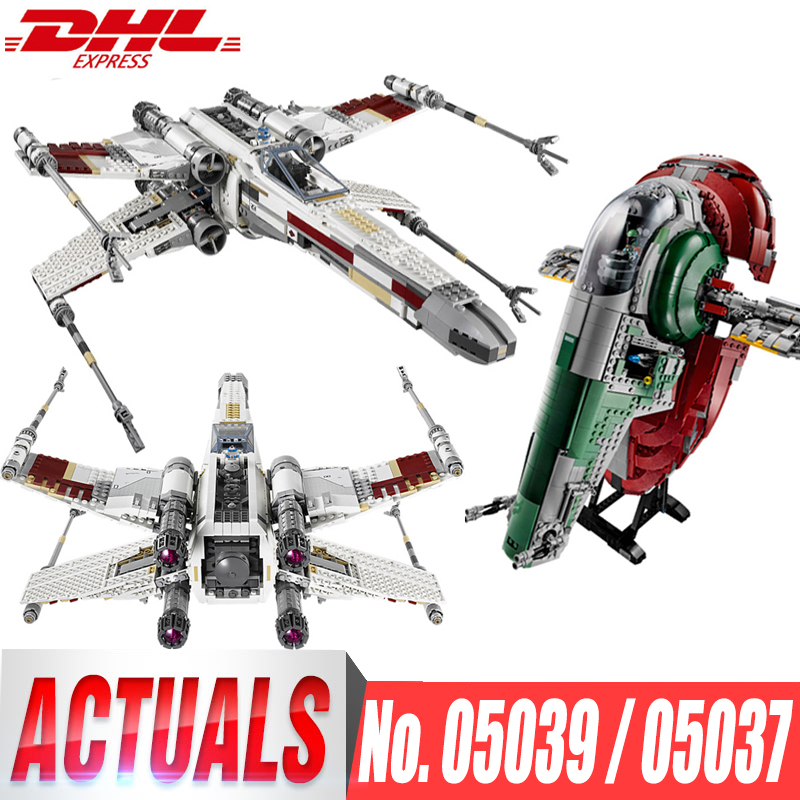 Lepin 05039 Red Five X Starfighter Wing Lepin 05037 UCS Slave I Slave NO.1 Bricks Toy Star Legoingly 10240 75060 Toys Gifts Wars