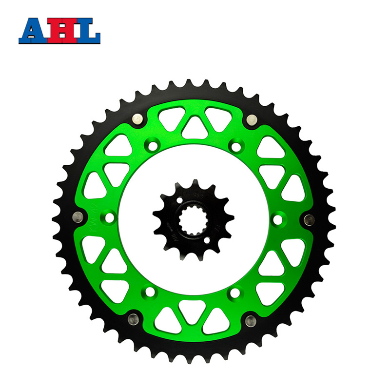 все цены на Motorcycle Parts Front & Rear Sprockets Kit for KAWASAKI KLX250S KLX250 S 06-07 09-13 KLX250 SDF/SEF 2013-14 Gear Fit 520 Chain онлайн