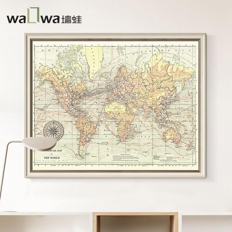 Online-Shop Der frosch wand karte der welt studie dekorative malerei ...