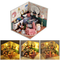 MINOCOOL 3D Dollhouse Miniature Kit FAI DA TE Casa Inverno Canzone Assemblea Casa Modello Handmade Di Puzzle Giocattolo Per L'apprendimento Giocattolo Educativo