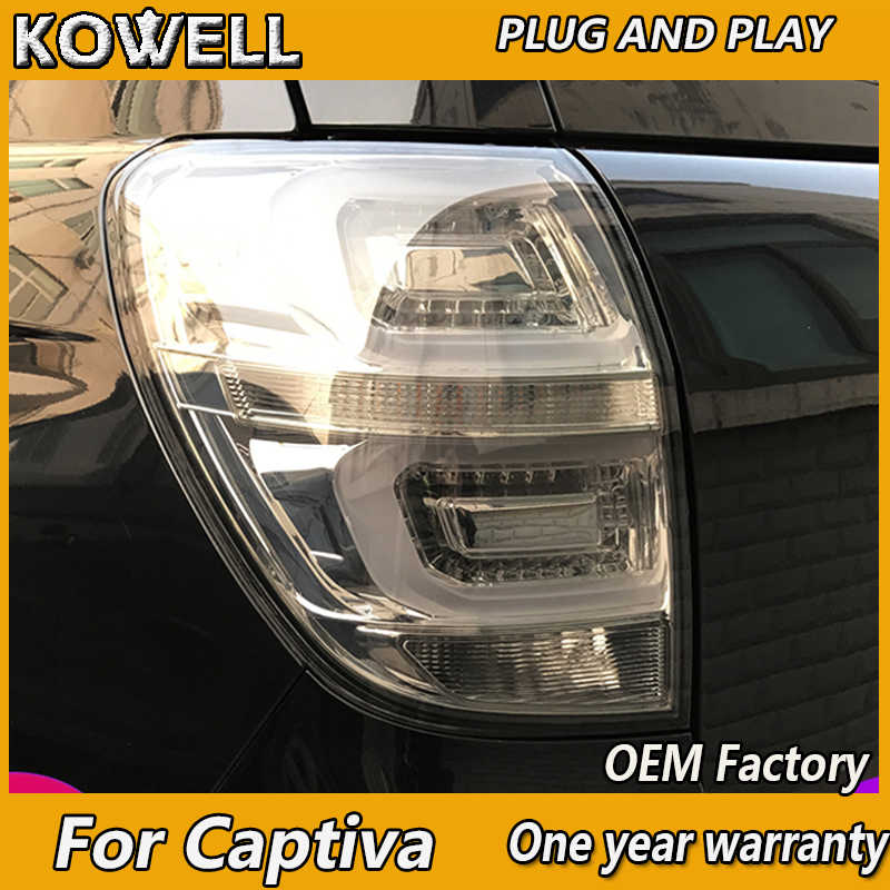 Kowell Auto Styling Voor Chevrolet Captiva 2009-2012-2016 Achterlichten Led Staart Lamp Kofferbak Lamp Cover Drl + Signaal + Rem + Reverse