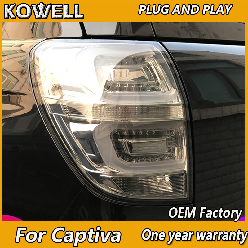 KOWELL Car Styling for Chevrolet Captiva 2009 2012 2016 taillights LED Tail Lamp rear trunk lamp cover drl+signal+brake+reverse