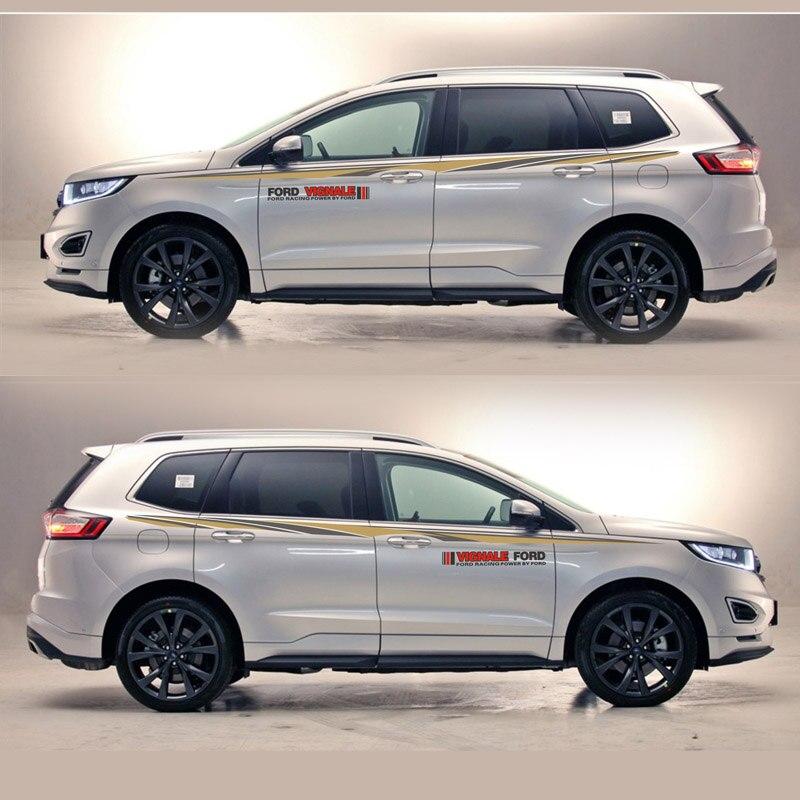 TAIYAO voiture style sport voiture autocollant pour Ford 2013-2018 bord voiture accessoires et décalcomanies auto autocollant