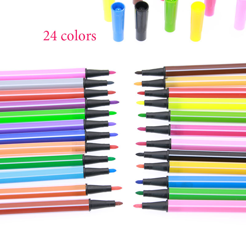 Watercolor Pens for Children - Sets of 12, 18, 24 and 36 colors 4