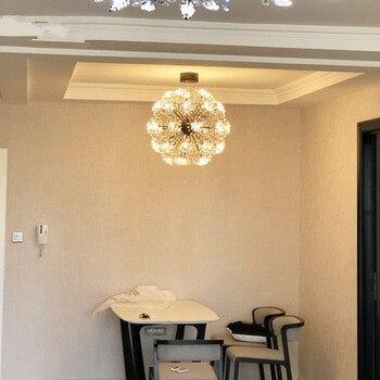 Led Crystal Ball Wisiorek światła Nowoczesny Dmuchawiec Jadalnia Restauracja Projekt Lampy Domu Decor Chrom Oprawa G4 żarówka 110- 220 V