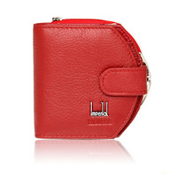Hot Promotion Red Black Women Small Wallet Fold Multifunction Hasp Card Bag Zipper Coin Purse Female