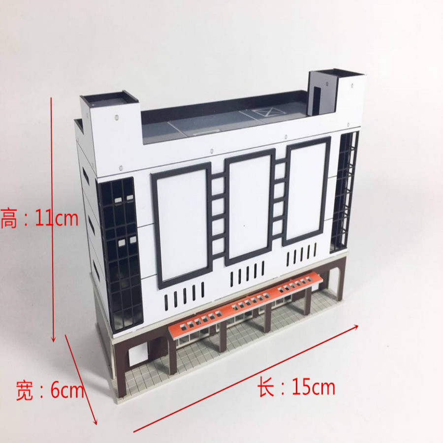 1/150 160 sand table building model Mech scene model for ho train layout and hobby model maker