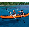 Environmentally friendly PVC drifting double canoe two-person ship to send paddles rubber rowing boat inflatable boat