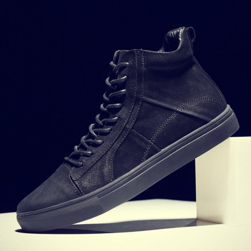CLAX Mens รองเท้าหนังของแท้หนังฤดูใบไม้ร่วงแฟชั่นรองเท้าข้อเท้า Boot chaussure homme plus ขนาด-ใน รองเท้าบูทแบบเบสิก จาก รองเท้า บน   2