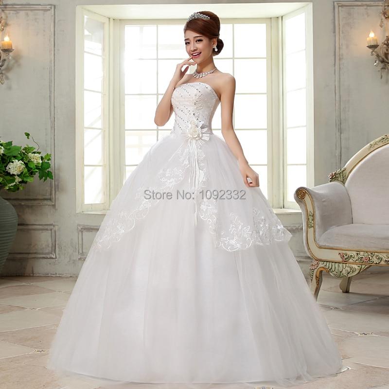 Z Stock 2016 New Plus Size Bridal Gown Women Wedding Dress