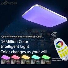 Горячий Продавать 2.4 г Дистанционного RGB Потолочный Светильник RGB + Холодный белый + Теплый белый Smart LED абажур/Современный Потолочный Светильник для гостиной номер