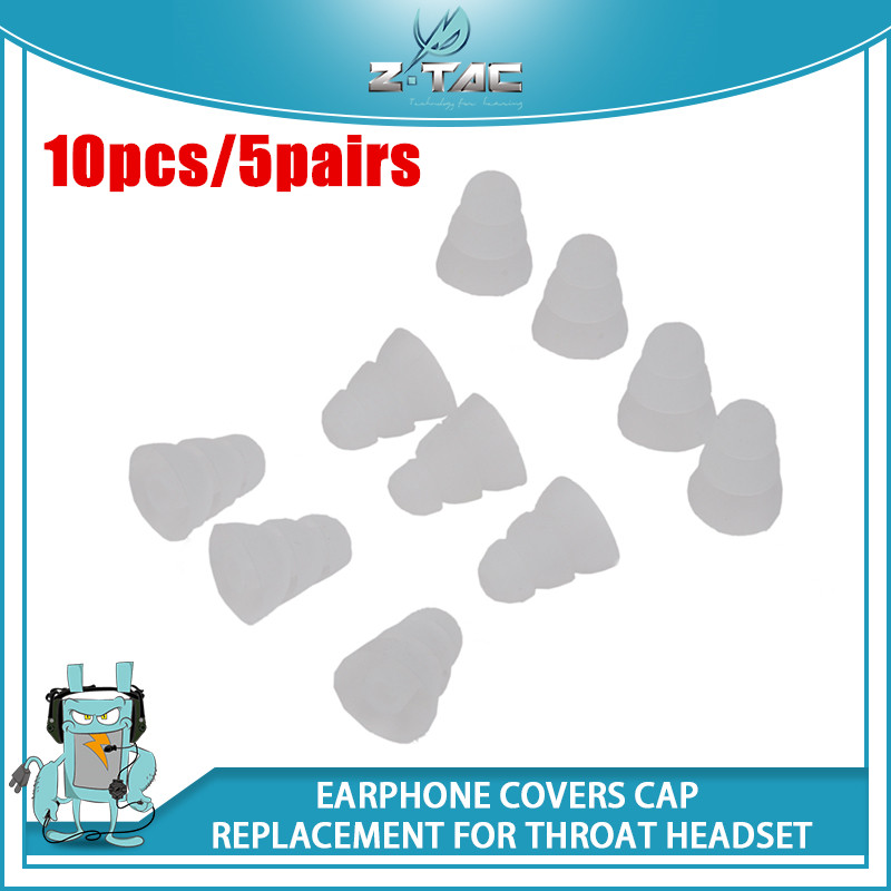 Z-Tactical 10pcs/5pairs Three Layer Silicone In-Ear Earphone Covers Cap Replacement For Throat Headset Earplug Ear Pads Z015