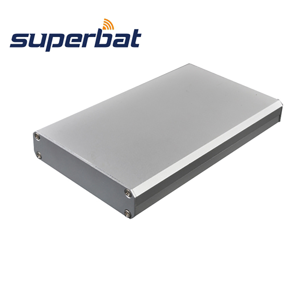 HOT 110*66*16MM Aluminum Junction Box Instrument Electronic Project Amplifier PCB Enclosure Case 4.33″*2.60″*0.63″ with Screws
