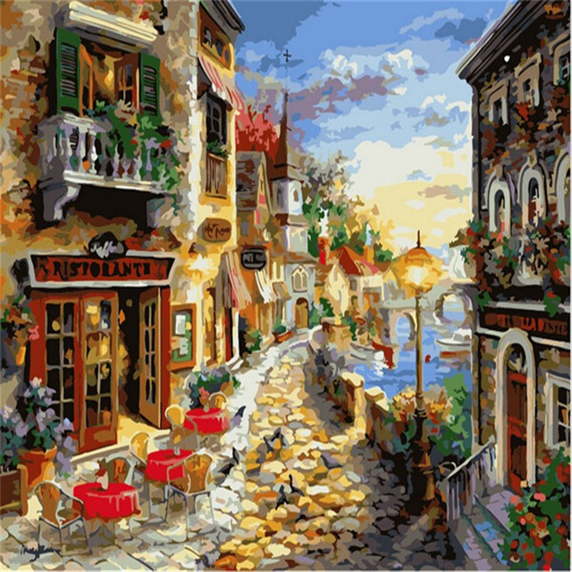 Gold Coast Picture Painting By Numbers On Wall Acrylic European ...