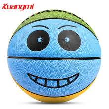 Kuangmi Basketball Kids Smiling Face Mini Ball Basketball Game Size 3 / Size 4 / Size 5 Indoor Outdoor Training Child Toy Gifts