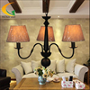 Free Shipping European Minimalist American Iron Chandelier Three Bedroom Lamps Study Lamp Restaurant Lights Linen Cloth