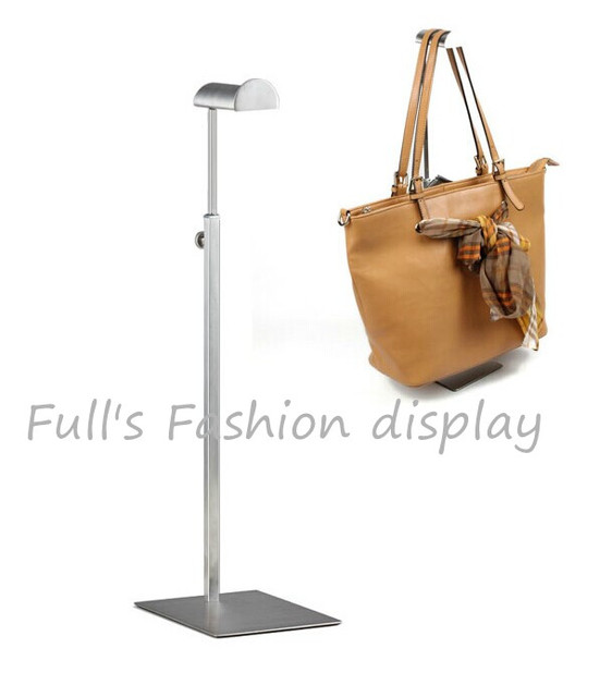 Free Shipping Matte Stainless Steel Bags Display Rack Hair