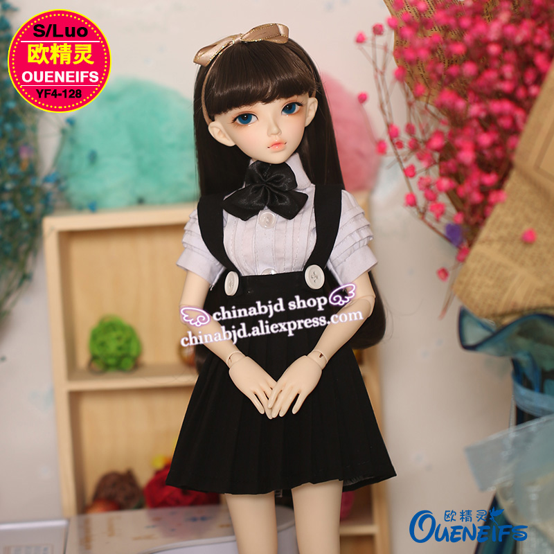 OUENEIFS free shipping College style suit skirt, black and white all-match 1/4 bjd/sd doll clothes,no doll or wig YF4-128 accept custom european style black leather suit bjd uncle 1 3 sd ssdf doll clothes