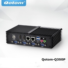 Процессор Core i5 Industrial PC, 6 COM 2 Lan, Qotom-Q350P, процессор Core i5-4200U (кэш 3 м, до 2,60 ГГц) X86 Безвентиляторный Компьютер