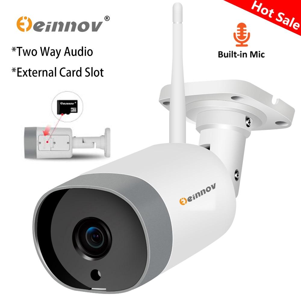 Einnov Wifi IP Camera CCTV Audio System Security Camera 1080P HD Wireless Video Surveillance Onvif P2P External SD Card Slot