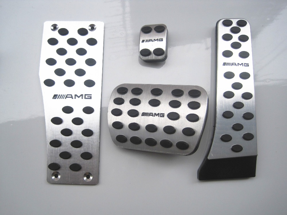 sale For Benz A, B, M, GL, ML, CSC, CLA R Class aluminum pedals Fuel Brake rest foot pedal car pedals fast air send FAST SHIP