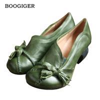Discount Spring Womens Green Pumps Sale Sheepskin Ladies 5CM Heel Shoes Handmade Women Ruby Slipper Shoes