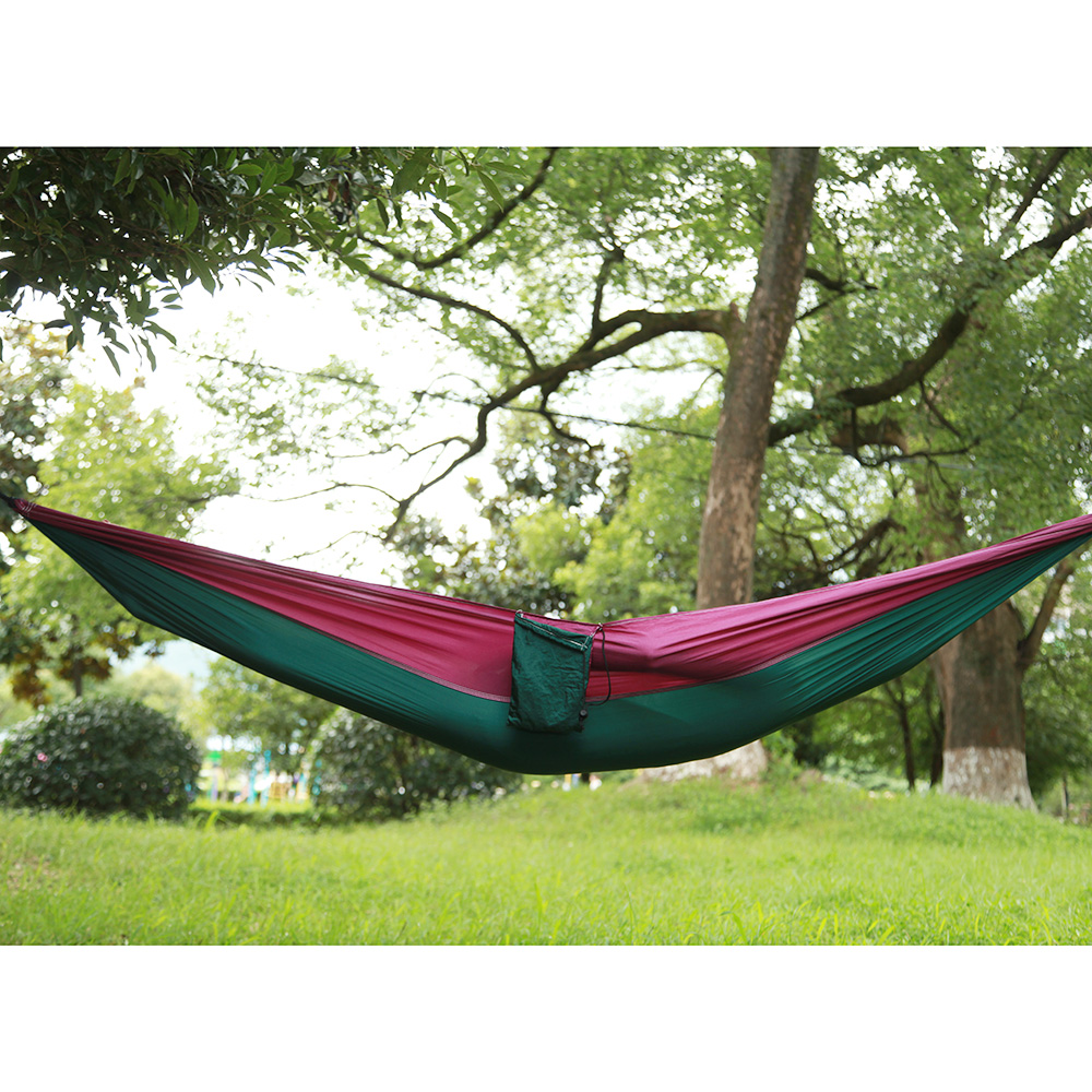 Image 3 - Outdoors Camping Hammock Hanging Swing Sleeping Bed Lightweight Portable Nylon Parachute Double Hammock for Backpacking Travel-in Outdoor Tools from Sports & Entertainment