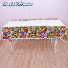 disposable plastic tablecloth super mario theme girl boy birthday party decoration 2pcs 5pcs 10