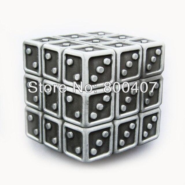Розничная распределить оригинальный Винтаж Magic Игральная кость Cube пряжки ремня buckle-cs027as Бесплатная доставка