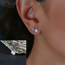 Romad 2018 Fire Opal 4 8 10mm Natural Stone For Women