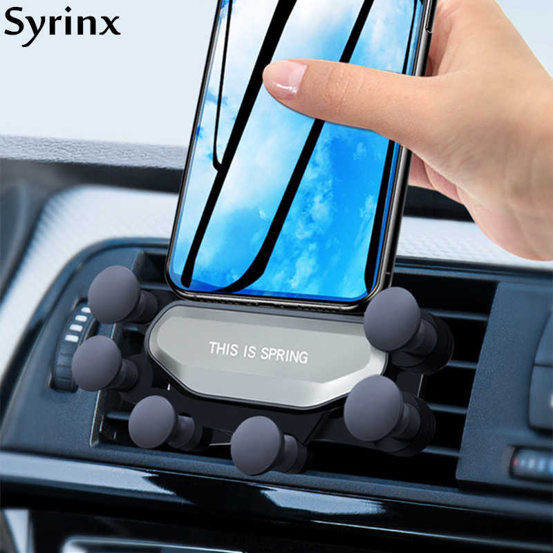 New Universal Air Vent Car Mount Gravity Auto-Grip Car Phone Holder Support For Phone in Car For iPhone X Samsung Huawei Tablets