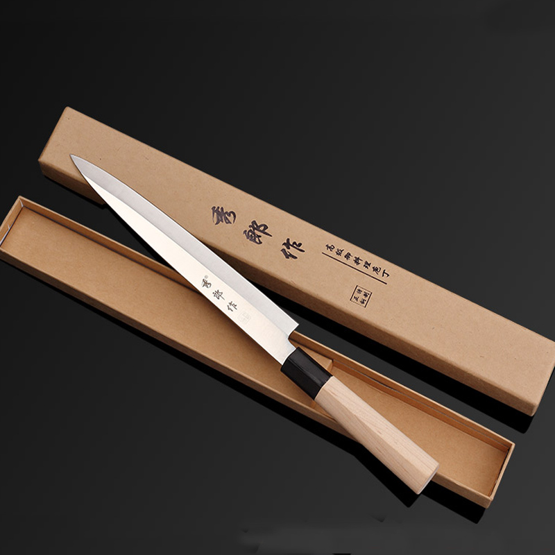 Free Shipping LDZ Sharp Sashimi Steel Knife Fillet Sushi Slicing Knives Kitchen Chef Cooking Knife Cut Meat Food Fruit Knife