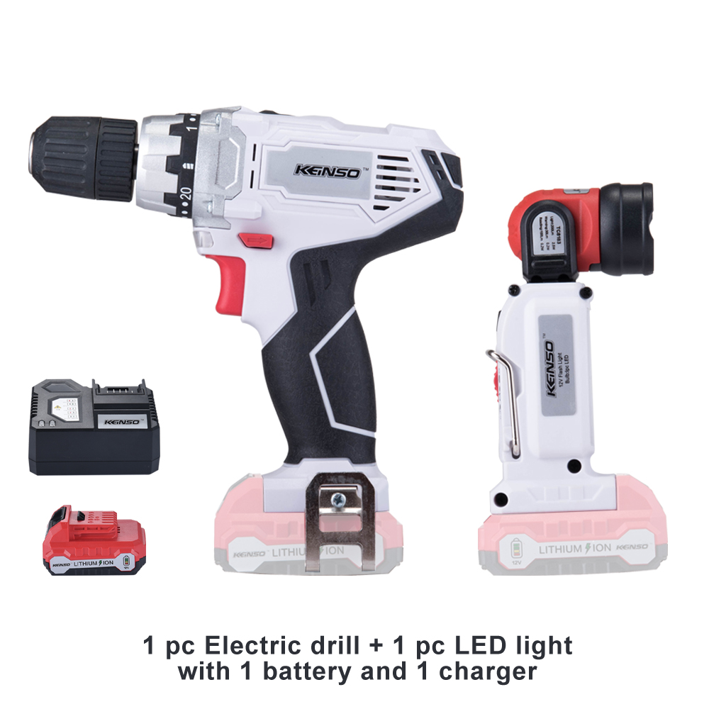 12V power tools Electric Cordless Drill Screwdriver Mini Drill Plus LED light with 1 battery and 1 charger handheld electrical drill charger electric grinder mini electric screwdriver power tools with power wire and screwdriver set