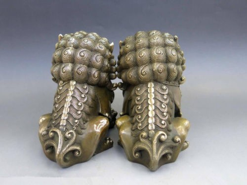 decoration bronze factory Pure Brass Antique Old A pair Chinese Brass Animal  Foo Dog Lion town house Statue sculpturedecoration bronze factory Pure Brass Antique Old A pair Chinese Brass Animal  Foo Dog Lion town house Statue sculpture