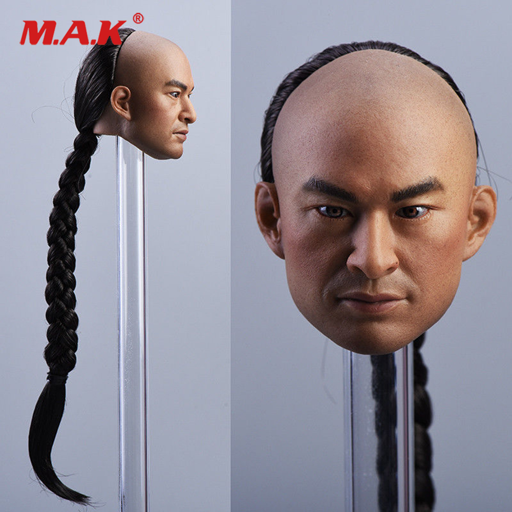 1:6 Scale Male Head Carved Chinese Actor Ma Jingtao Head Sculpt with Braid Hair for 12'' Man Action Figure Body 1 6 scale vincent rm022 john travolta movie actor action figure for collection
