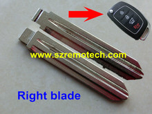 50pcs/lot Free Shipping Folding Flip Right Key Blade Fit For Hyundai New Santa Fe IX45 IX35 Flip Remote Key Blade Replacement