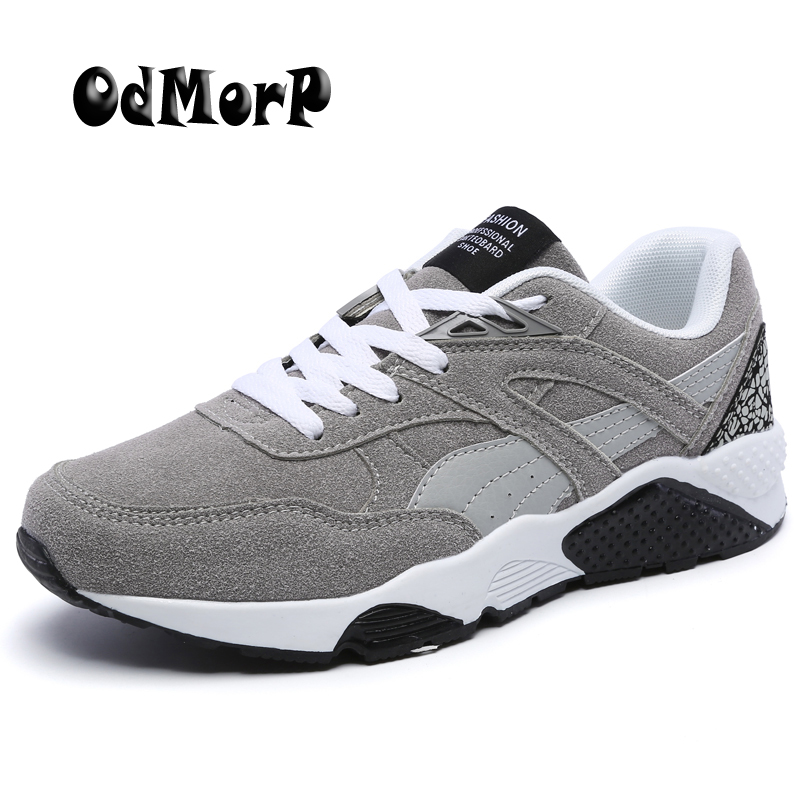 OdMorP Footwear Store New Men Casual Suede Shoes Comfortable Lightweight Casual Shoes Men's Fashion Designer Zapatos Hombre Daily Footwear Size 38-44