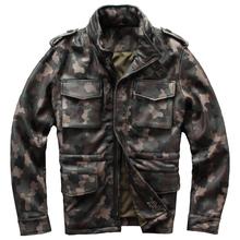M65 Sheepskin Genuine Leather Jacket Men Motorcycle Sheepskin Genuine Leather Coat cheap Leather Suede Stand COTTON M598 Long Full Slim Zippers Pockets Punk Style DAYDAYFASHION NONE Solid STANDARD