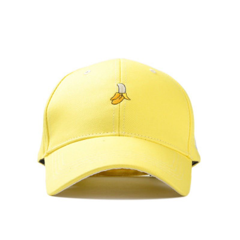 Ymsaid New Arrival Spring Leisure Fresh Fruit Embroidery Hat Strawberry Banana Cherry Orange Peach Baseball Cap For Women