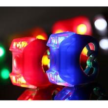 6 Цветов Велоспорт Жук Сигнальная лампа Велосипед Свет Водонепроницаемый Силиконовый горных Велосипедов Головного Света Передние Задние Лампы